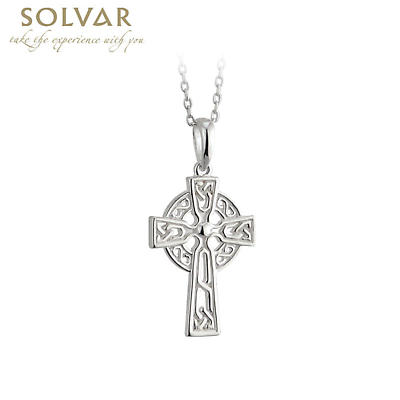 Celtic Pendant - Sterling Silver Filigree Celtic Cross Pendant with Chain