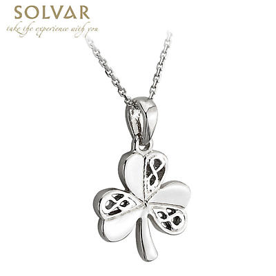 Celtic Pendant - Sterling Silver Celtic Shamrock Pendant with Chain