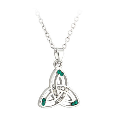 Irish Pendant - Lucky Crystal Trinity Knot Pendant