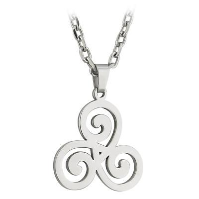 Celtic Pendant - Stainless Steel Triskele Celtic Spirals Pendant