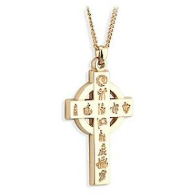 History Of Ireland Gold Celtic Cross Pendant