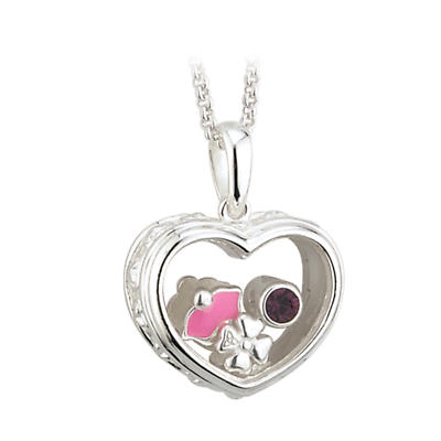 """Irish Necklace - Sterling Silver """"Happy Birthday"""" Aura Pendant with Chain"""
