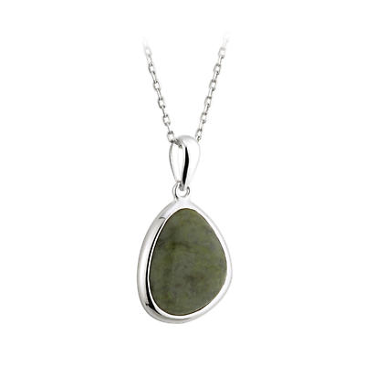 Irish Necklace - Sterling Silver Connemara Marble Pendant with Chain