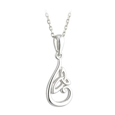 Trinity Knot Pendant - Sterling Silver Trinity Knot Pendant with Chain