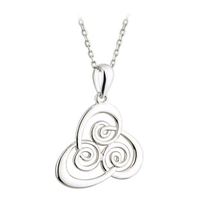 Celtic Pendant - Sterling Silver Spiral Pendant with Chain