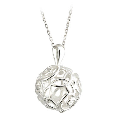 Celtic Pendant - Sterling Silver Trinity Knot and Swirl Pendant with Chain