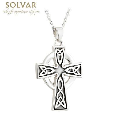 Celtic Pendant - Sterling Silver Oxidized Celtic Cross Pendant