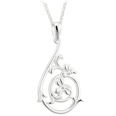 Shamrock Necklace - Sterling Silver Shamrock Spiral Pendant
