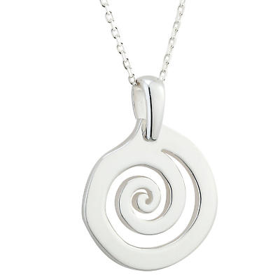 Celtic Necklace - Sterling Silver Celtic Swirl Pendant