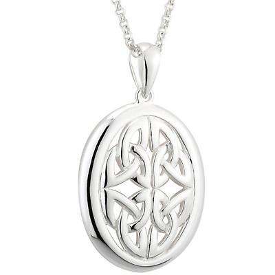 Celtic Necklace - Sterling Silver Failte Celtic Pendant