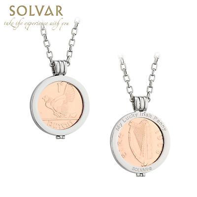 Irish Necklace - Rose Gold Plated Lucky Irish Penny Pendant