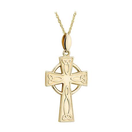 Celtic Cross Necklace - 14k Gold Celtic Cross Pendant