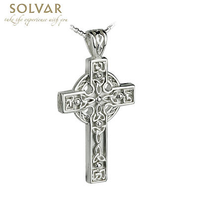 Men's Sterling Silver Celtic Trinity Knot  Cross