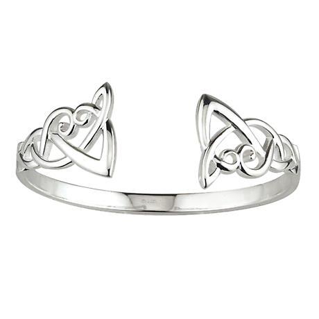 Celtic Bangle - Sterling Silver Celtic Knot Bangle