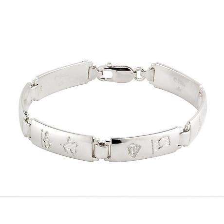 Irish Bracelet - History of Ireland Ladies Sterling Silver Bracelet