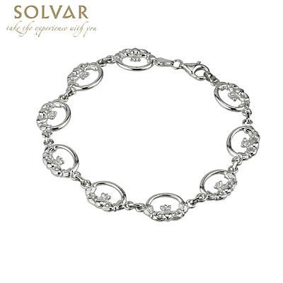 Sterling Silver Claddagh Link Bracelet