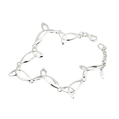 Irish Bracelet - Sterling Silver Fusion Celtic Trinity Knot Bracelet