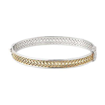 Celtic Bangle - Sterling Silver and Gold Plate Celtic Knot Bangle