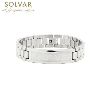 Irish Bracelet - Men's Stainless Steel Link Bracelet