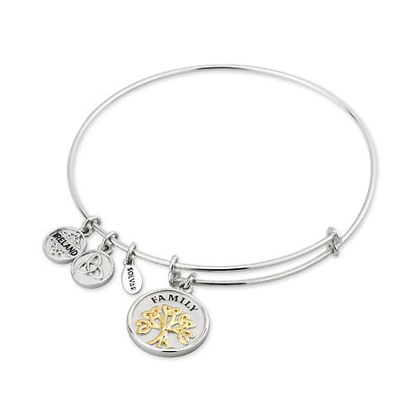 Irish Bangle - Sterling Silver and Gold Plated Tree of Life Expanding Bangle