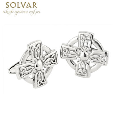 Celtic Cufflinks - Celtic Knot Cross Cufflinks