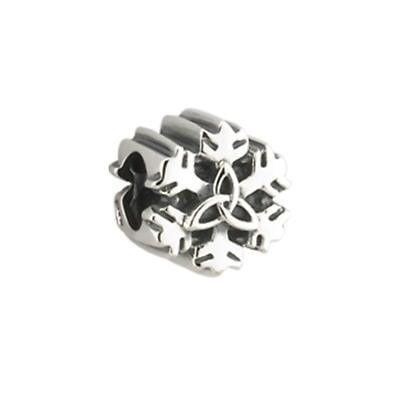 Silver Trinity Knot Snowflake Bracelet Bead