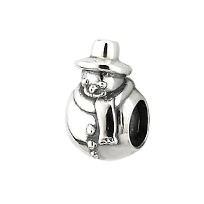 Silver Snowman Bracelet Bead