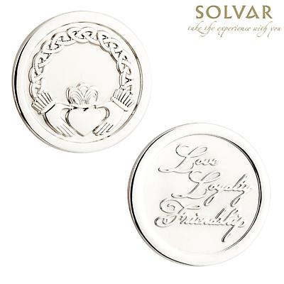 Irish Claddagh Coin by Solvar Jewelry