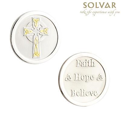 Irish Celtic Cross Coin by Solvar Jewelry