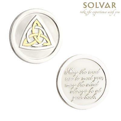 Irish Celtic Knot Blessing Coin by Solvar Jewelry