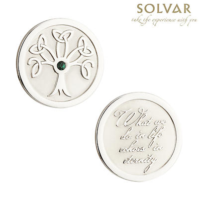 Irish Celtic Tree of Life with Crystal Coin by Solvar Jewelry