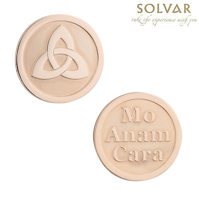 Irish Rose Gold Plated Trinity Knot Coin by Solvar Jewelry