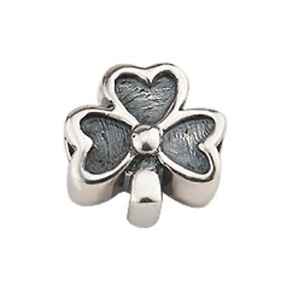 Sterling Silver Shamrock Bracelet Bead