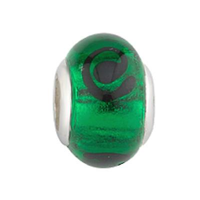 Celtic Bracelet Bead - Green Celtic Glass