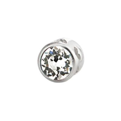Sterling Silver Large Aura Celebration Crystal - April