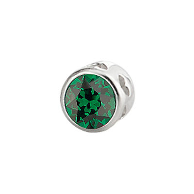 Sterling Silver Large Aura Celebration Crystal - May
