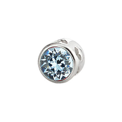 Sterling Silver Large Aura Celebration Crystal - December