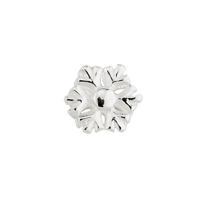 Sterling Silver Snowflake Aura Celebration Charm