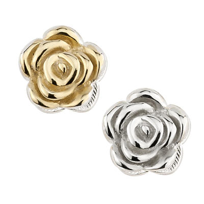 Sterling Silver & Gold Plated Rose Aura Celebration Charm