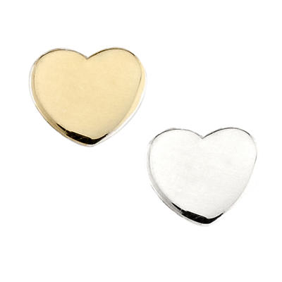 Sterling Silver & Gold Plated Heart Aura Celebration Charm