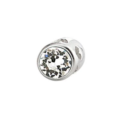 Sterling Silver Small Aura Celebration Crystal - April