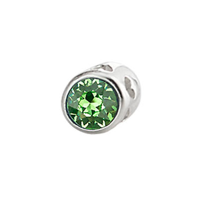 Sterling Silver Small Aura Celebration Crystal - August