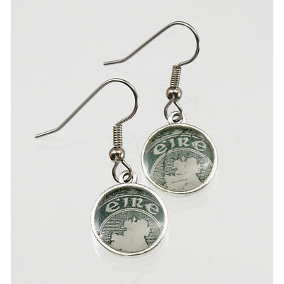 Irish Postage Stamp Earrings