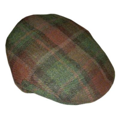 Donegal Curragh Tartan Tweed Cap