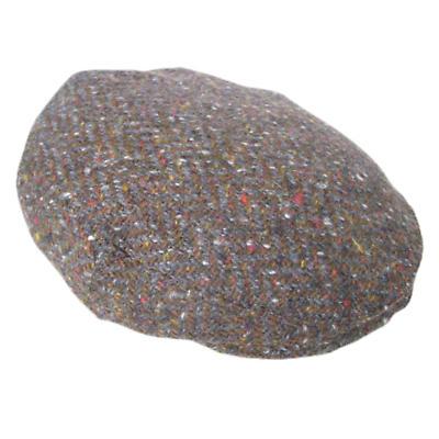 Earth Brown Herringbone Donegal Tweed Cap