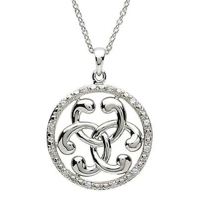 Celtic Necklace - Sterling Silver Chic and Glamorous Celtic Pendant