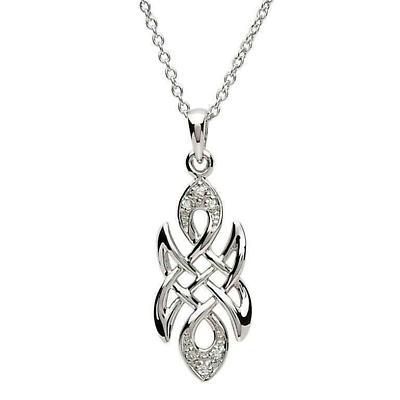 Celtic Necklace - Sterling Silver Teardrop Celtic Knot Pendant