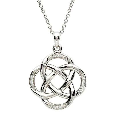 Celtic Necklace - Sterling Silver Celtic Circles Pendant