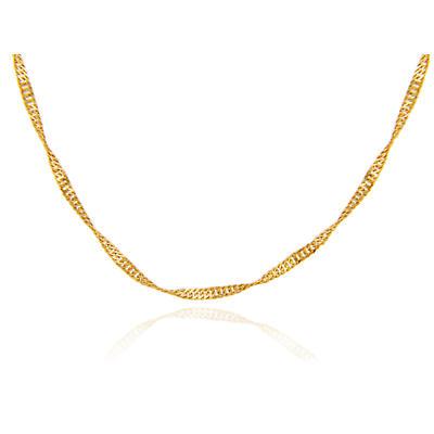"""Irish Necklace - Yellow Gold 18"""" Chain"""