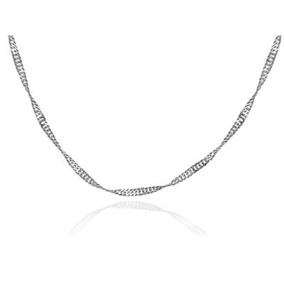 "Irish Necklace - White Gold 18"" Chain"